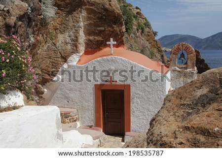 picturesque chapel on Leros island, Greece