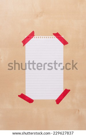 Piece of Paper On Wooden Notice Board With Space For Text.