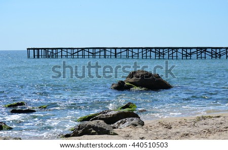 Pier at St Constantine and Elena, Varna, Bulgaria