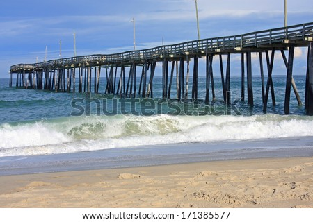 Pier on Rodanthe beach