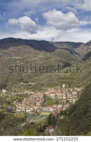 Pigna - popular destination in the Ligurian Apennines