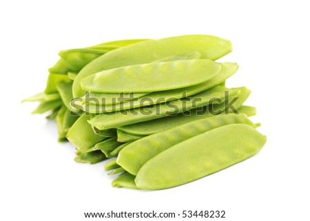 pile of baby sweet peas on white background - fruits and vegetables