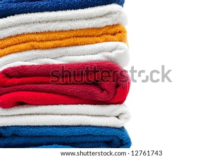 Pile of colorful towels