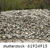 pile of river rocks - stock photo