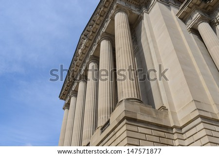 Pillars or Columns Blue Sky