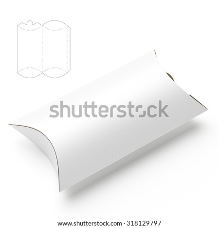 Pillow Package for Food with Die Line Template