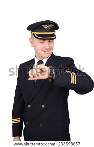 pilot on a white background