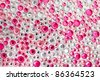 Pink and silver texture with crystals - stock photo