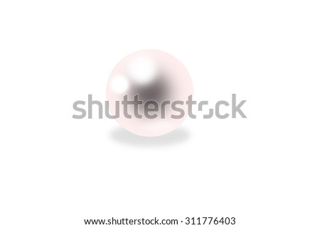 pink pearl on a white background