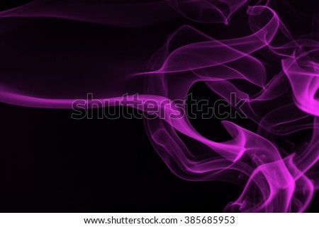 Pink smoke abstract on black background