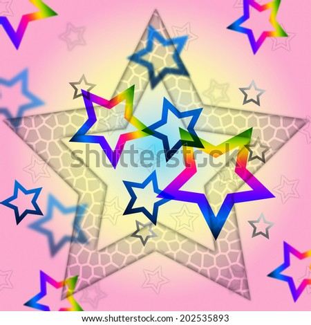 Pink Stars Background Showing Space Astronomy And Celestial