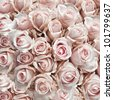 Pink vintage roses as  a square background - stock photo