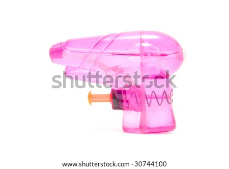pink water gun isolated on white background