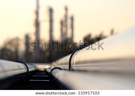 pipe line connection in oil refinery