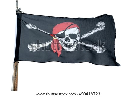 Pirate flag isolated on white