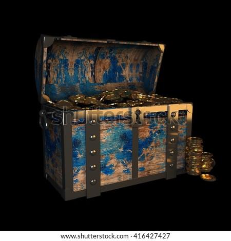 Mysterious Treasure Chest Smoke Stock Photo 564503425 ...