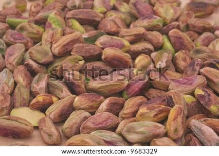 Pistachio Nuts With Shells Removed, Close-up