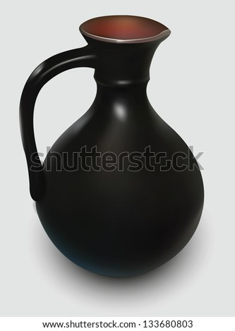 pitcher on a white background