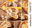 pizza fast-food collage - stock