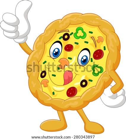 Smiling Dancing Slice Pizza Vector Flat Vectores En Stock ...