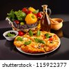 Pizza in black - stock photo