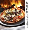 Pizza oven - stock photo