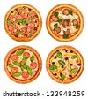 Pizza set - stock photo