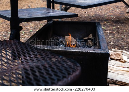 Place for barbecue