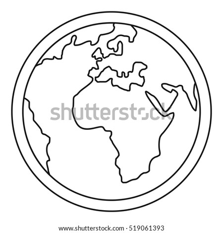 Planet Earth icon. Outline illustration of planet Earth  icon for web