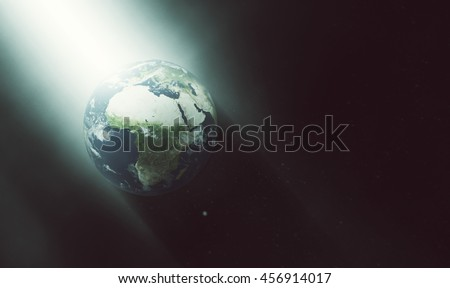 Planet Earth Illuminated Concept - UFO Alien Vibes (Elements of this image furnished by NASA)
