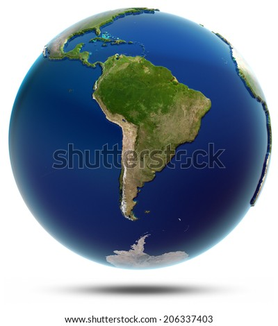 Planet Earth - South America. Elements of this image furnished by NASA