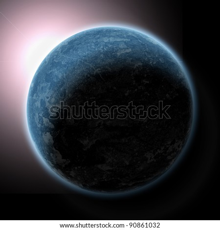 planet in beautiful space