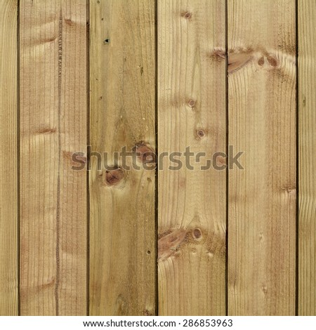 planks on the fence
