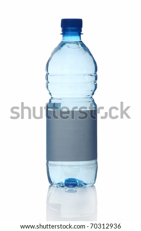Plastic bottle of water isolated on white background