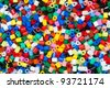 plastic granules or plastic beads for children to play with - stock photo