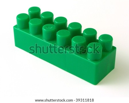 plastic toy brick