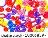 Plasticine background - stock photo