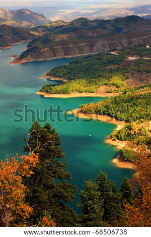 Plastiras lake in central Greece