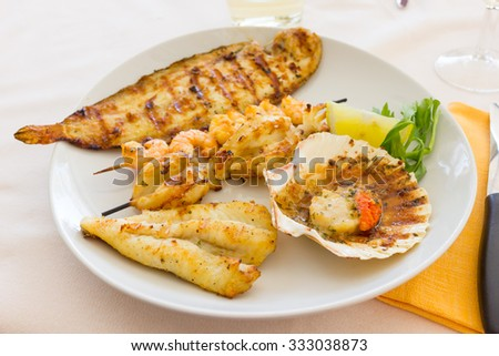 Plate of mixed fish
