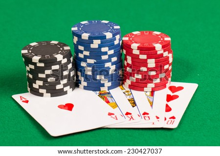casino poker online blue heart