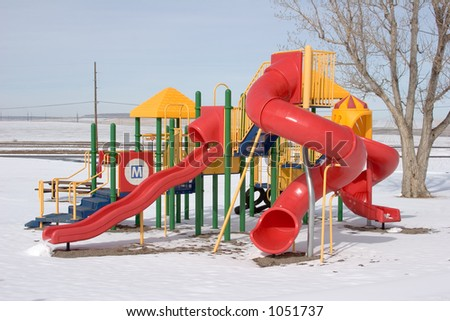 playset in winter