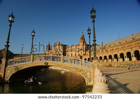 Plaza de Espana, Servilla Spanish Square in Sevilla, Spain