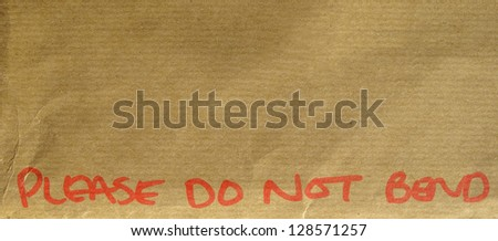 Please do not bend envelope