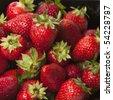Plenty of strawberry - stock photo