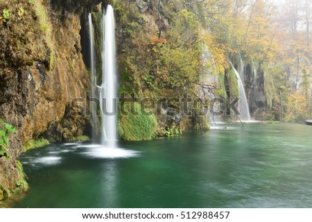 Plitvice Lakes Autumn Color and Mist, Croatia