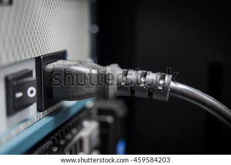 plug and switch (on/off) of server at data center - technology information