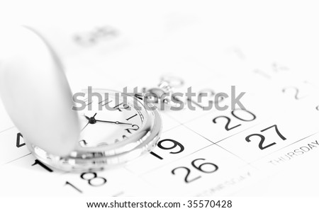 pocket watch and calendar