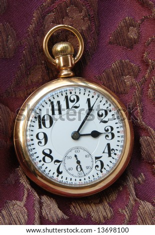 Pocket Watch on Purple Silk