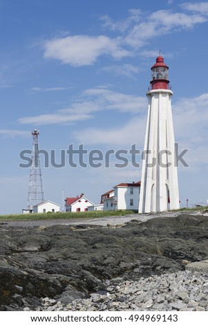 Pointe-au-Pere Lighthouse, Rimouski, Quebec, Canada