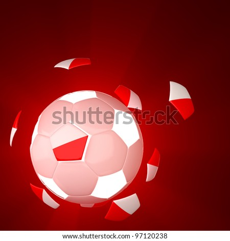 Poland flag on 3d Football for Euro 2012 Group A